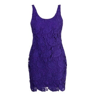Lauren Ralph Lauren Womens Petites Lace Mini Cocktail Dress