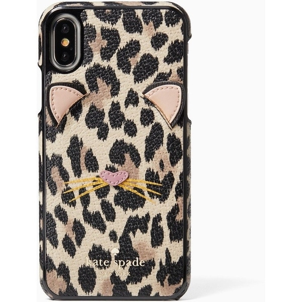 bc903ce3c6 Shop Kate Spade New York Leopard Applique iPhone X Case, Black - Free  Shipping Today - Overstock - 22681290