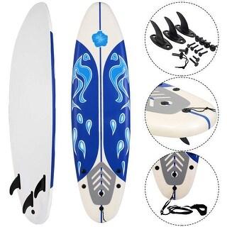 6' Surf Foamie Boards Surfing Beach Surfboard - White