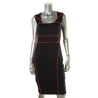 Bailey 44 Womens Contrast Trim Lined Wear to Work Dress
