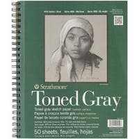 """Gray 50 Sheets - Strathmore Toned Sketch Spiral Paper Pad 9""""X12"""""""
