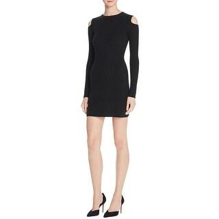 Theory Womens Jemlora Sweaterdress Wool Ribbed Knit - p