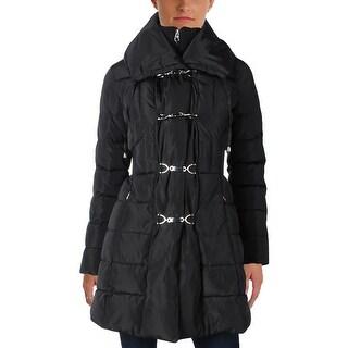 Jessica Simpson Womens Duffle Coat Hooded Long Sleeves