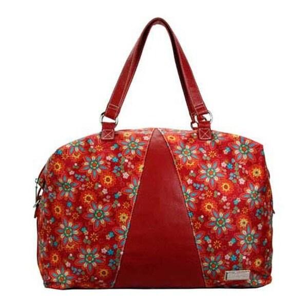 8880350caf Shop Hadaki by Kalencom Women s Valeria s Duffle Primavera Floral - US  Women s One Size (Size None) - Free Shipping Today - Overstock.com -  10321776