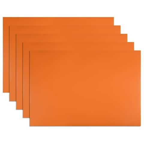 5 Pcs Dry Erase Flexible Magnetic Strip Labels Stickers Writable White - Orange