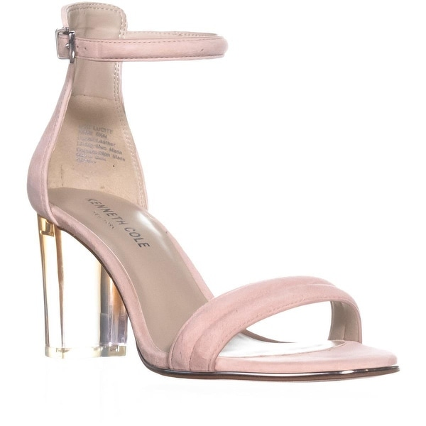 Kenneth Cole Lex Lucite Ankle Strap Sandals, Rose