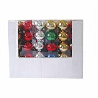 """Club Pack of 24 Vibrantly Colored Shatterproof Ball Decorative Ornaments 2.6"""" - silver"""