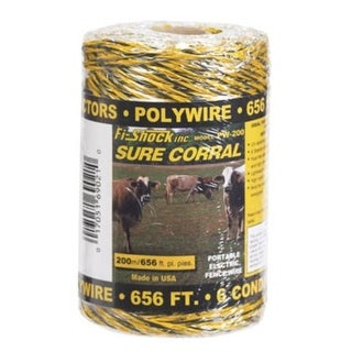 Fi-Shock PW-200 Electric Fence Poly Wire, 656'