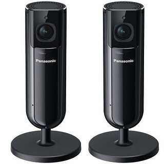 Panasonic KX-HNC800B Full HD Home Monitoring Camera With Mobile App Interface(2 Pack)