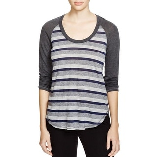 Stateside Womens Casual Top Striped Long Sleeves
