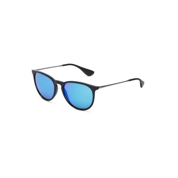 5ce28bc8aa Ray-Ban Unisex Erika Sunglasses In Gunmetal And Blue - Gunmetal and Blue -  One