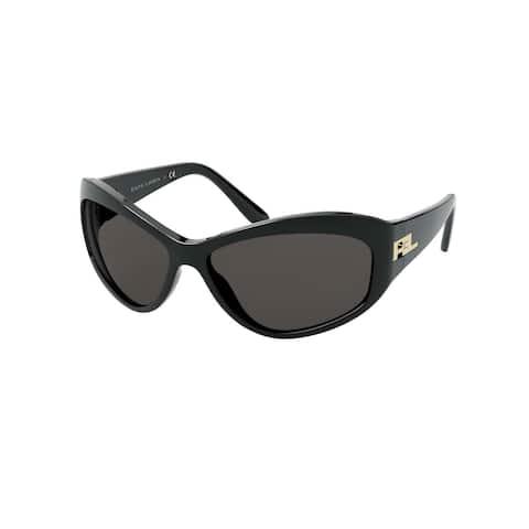 Ralph Lauren RL8179 579187 62 Mettallic Black Woman Cat Eye Sunglasses