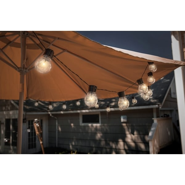 Shop Solar Edison Style String Lights 10 Bulbs - Free Shipping On