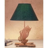 Meyda Tiffany 49791 Table Lamp from the Fish Du Jour Collection - hunter green rust - n/a