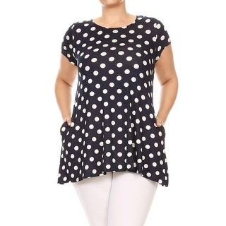 Link to Women's Plus Size Polka Dot Short Sleeve Tunic Tee Top Similar Items in Tops