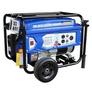 Green Power 5000-Watt Gas Powered Portable Generator with LCT Engine