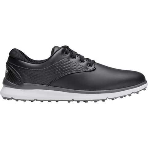 Callaway Men's Oceanside LX Waterproof Golf Shoe Black Full Grain Leather/Microfiber