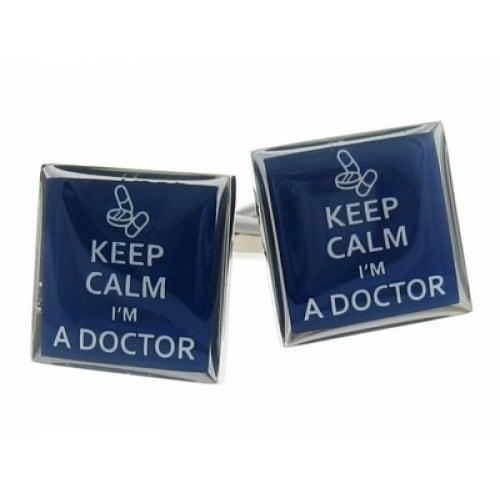 Keep Calm Doctor Cufflinks