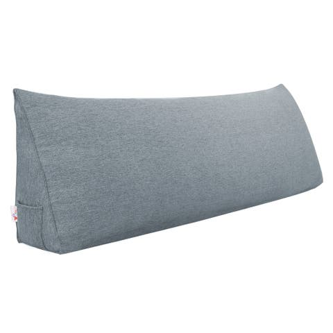Bed Rest Back Support Wedge Pillow Bolster Over-sized Dorm Reading Cushion