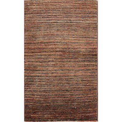 "Stripe Gabbeh Kashkoli Area Rug Hand-knotted Oriental Wool Carpet - 2'0"" x 3'1"""