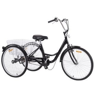 Costway 26'' Single Speed 3-wheel Bicycle Adult Tricycle Seat Height Adjustable w/ Bell|https://ak1.ostkcdn.com/images/products/is/images/direct/a274bbe20eed33b88c434824659ae00bb3deb0c1/Costway-26%27%27-Single-Speed-3-wheel-Bicycle-Adult-Tricycle-Seat-Height-Adjustable-w--Bell.jpg?impolicy=medium