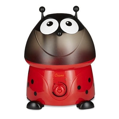 Crane Adorable Ultrasonic Cool Mist Humidifier - Ladybug w/ Filter