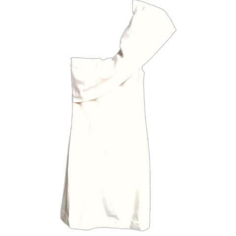 Kendall Kylie One Shoulder Dress, White, Small