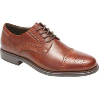 Rockport Men's Total Motion Cap Toe Brogue New Brown Leather