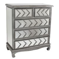 Aspire Home Accents 5262 Davenport Mirrored Chest (Set of 2) - Silver - N/A