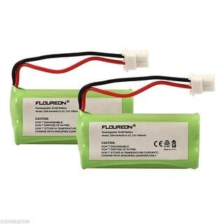 2X FLOUREON 400mAh Ni-MH Battery for Sanik 2SN-AAA40H-S-X2 2SNAAA70HSX2F ATamp;T - fruit green