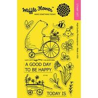 """Waffle Flower Crafts Clear Stamps 4""""X6""""-Happy Day"""