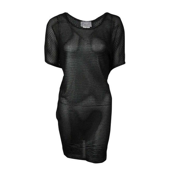 d996296dd703c0 Shop Elif for Jordan Taylor Women s Textured Tunic Swimsuit Cover - Black -  On Sale - Free Shipping On Orders Over  45 - Overstock - 14817981