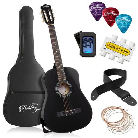 38-inch Beginner Acoustic Guitar Package, Kids Starter Kit