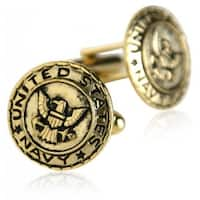 US Navy Cufflinks Gold Military