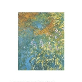 ''Yellow Iris'' by Claude Monet Floral Art Print (14 x 11 in.)