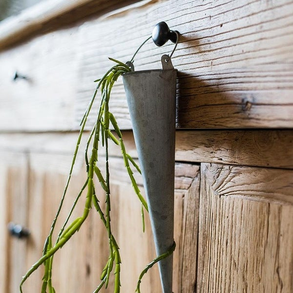 RusticReach Hanging Planter Flower Iron Pot (Set of 2)