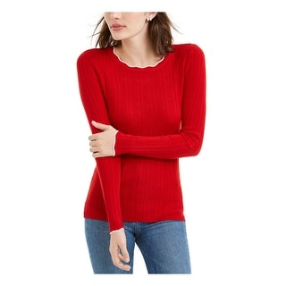 Link to MAISON JULES Womens Red Long Sleeve T-Shirt Sweater  Size XS Similar Items in Juniors' Clothing