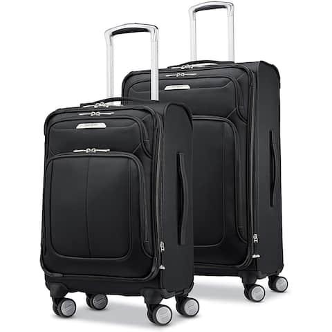 Samsonite Solyte DLX Softside Luggage, Midnight Black, 2-Piece Set
