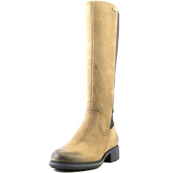 Rockport First St. Waterproof Gore Tall Boot Women Burnt Cake Waxy Boots