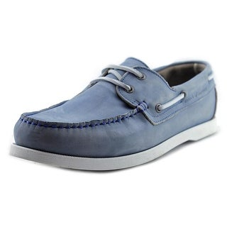 Moods of Norway Aslak Men Moc Toe Suede Blue Boat Shoe