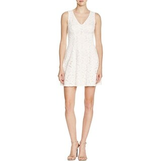Aqua Womens Tank Dress Lace A-line