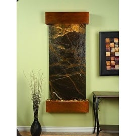Adagio Inspiration Falls Wall Fountain Rainforest Green Marble Rustic Copper - I