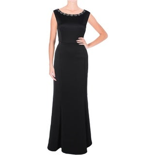 Connected Apparel Womens Evening Dress Embellished High Waist - 10