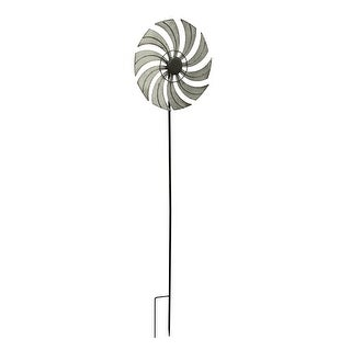 Distressed Metal Windmill Garden Stake Wind Spinner 59 1/2 Inches High