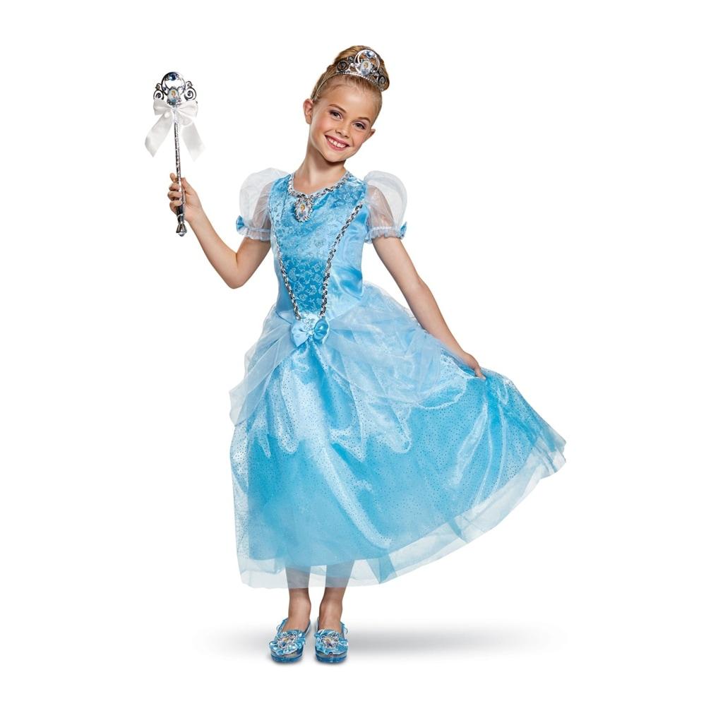 shop girls cinderella deluxe gown halloween costume overstock 22968493 small size 4 6x girls cinderella deluxe gown halloween costume
