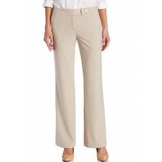 Calvin Klein NEW Beige Women's Size 16 Wide Leg Front Tab Dress Pants