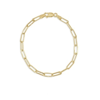 Gold Link Chain Bracelet 14K Gold  Made in Italy 3.4mm by Joelle Collection