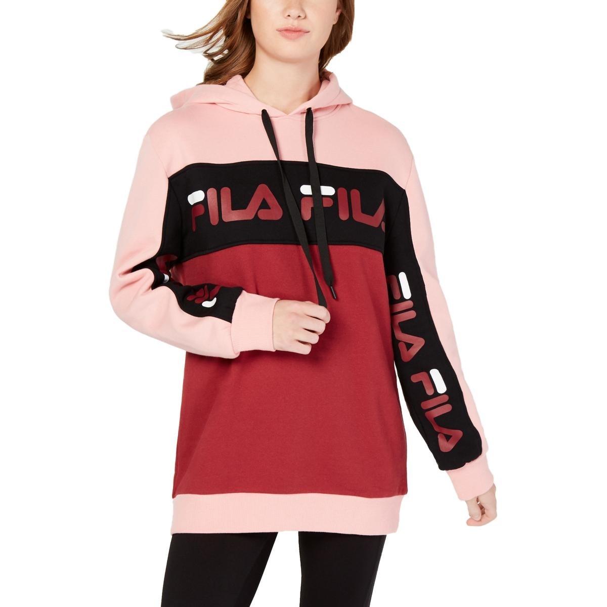 Fila Womens Rita Hoodie Oversized Fleece Lined