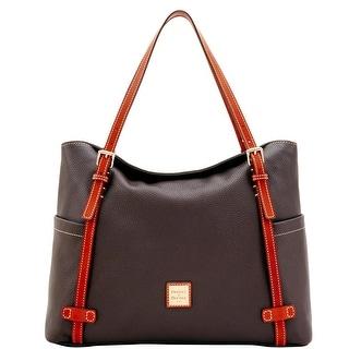 Dooney & Bourke Pebble Grain Double Strap Shopper (Introduced by Dooney & Bourke at $328 in Aug 2017) - Chocolate
