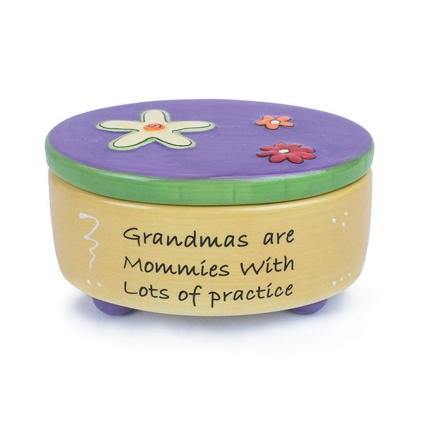 Tumbleweed Pottery Grandmas Mommies With Practice Sentiment Blessing Box